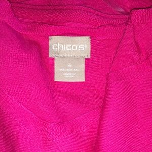 Chico's Sweaters - Chico's Hot Pink Lightweight Pullover Sweater